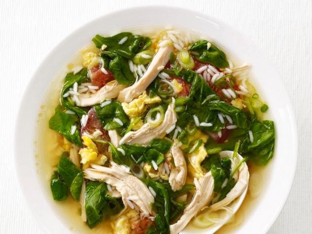Китайский куриный суп с рисом