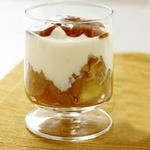 Домашний йогурт с яблочным компотом
