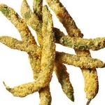 Жаренная во фритюре зеленая фасоль