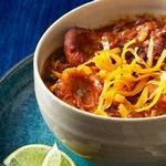 Чили со свининой и кукурузными клецками