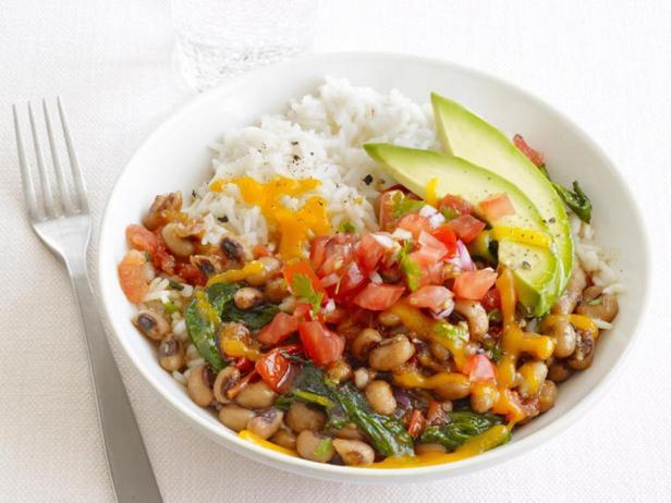 Техасско-мексиканский рис с фасолью