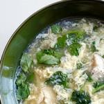 Куриный суп с яйцами