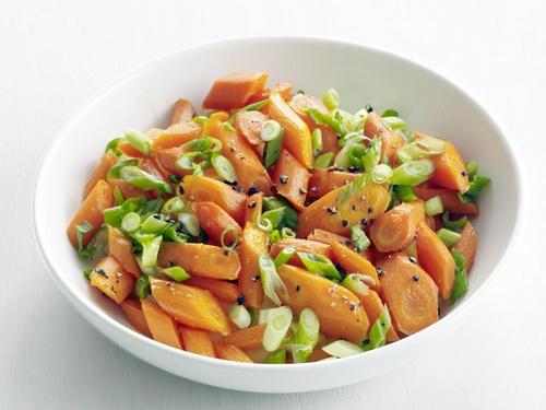 Фото Морковь тушеная в мандариновом сиропе
