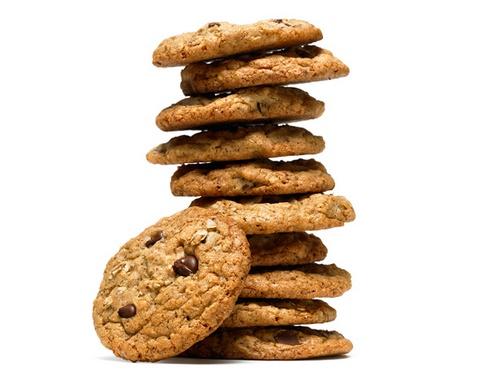 Овсяно-льняное печенье с шоколадом