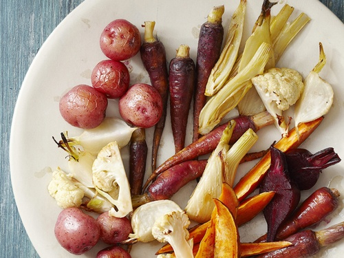 Запеченные овощи с соусом айоли