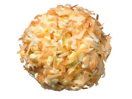 Миндальные шарики из попкорна с кокосовой посыпкой