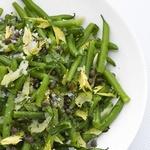 Салат из зеленой фасоли и сельдерея