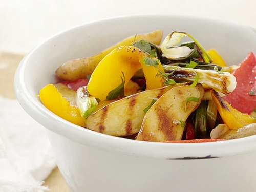 Картофельный гриль-салат со сладким перцем