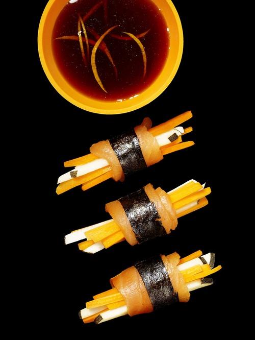 Фото Суши из моркови и редьки