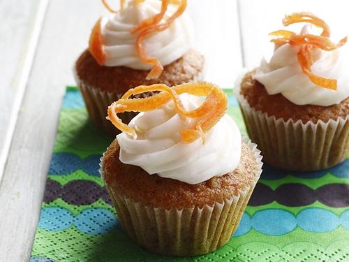 Морковные мини-кексы с кремом