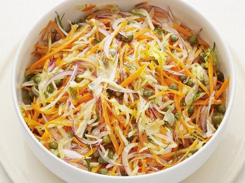 Морковный салат с каперсами