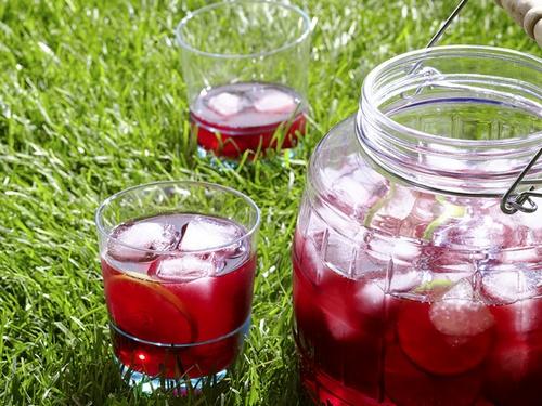 Фото Холодный чай каркаде с лаймом