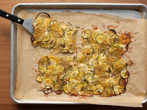 Гратэн из картофеля, цукини и желтого кабачка