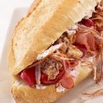 Сэндвич «По-бой» с ветчиной и грибами