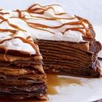 Шоколадный блинный торт с кремом дольче де лече
