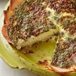 Открытый яично-сырный пирог на картофельном корже
