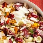 Тосканский салат из макарон с жареными на гриле овощами