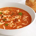 Суп-пюре из печеного сладкого перца