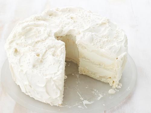 Фото Ванильный торт-мороженое с кремом на солодовом молоке