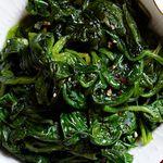Начинка для блинов из жареного шпината