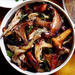 Начинка для блинов с грибами и сливками