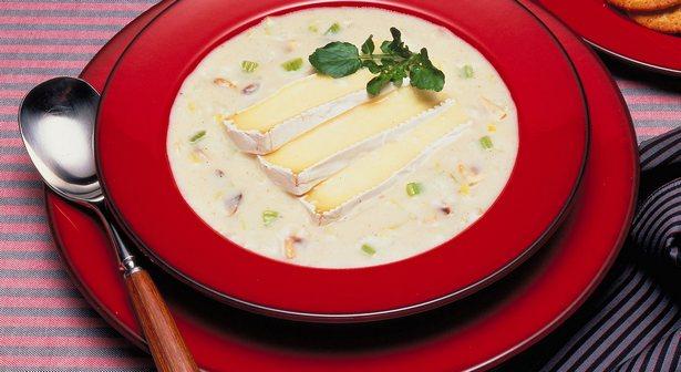 Крем суп с грибами и сыром бри