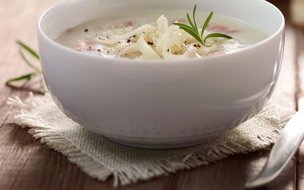 Фото Картофельный суп-пюре с беконом