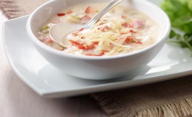 Фото Картофельный суп-пюре с ветчиной