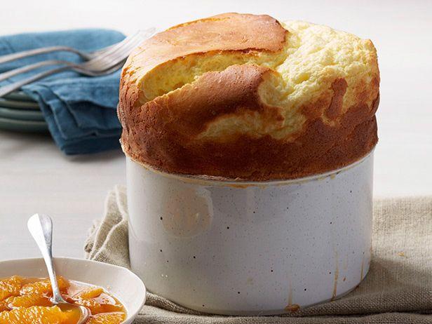 Сырное суфле с апельсиновым компотом