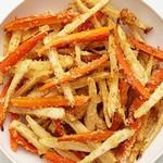 Морковь и пастернак, печеные в духовке