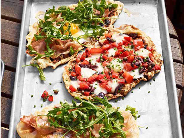 Пиццетти, жареные на гриле