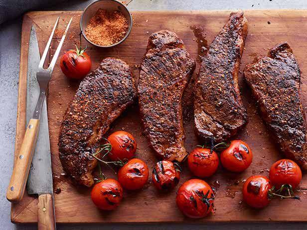 Стейки из говядины с пряной солью