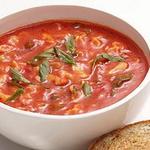 Томатный суп из свежих помидор с сырными сэндвичами