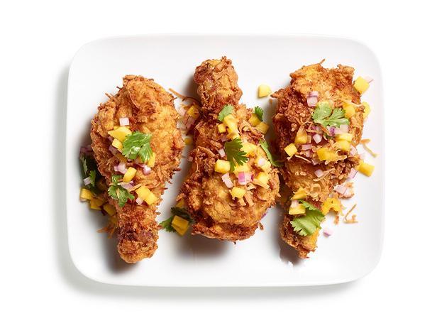 Куриные голени, жареные во фритюре по-гавайски