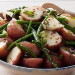 Салат с картофелем и стручковой фасолью