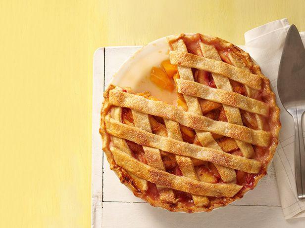 Пирог с персиками по-деревенски