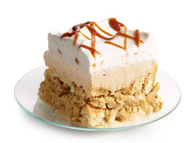 Фото Солено-сладкие пирожные с кремом дольче де лече
