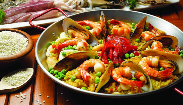 острые закуски испанская Морепродукты