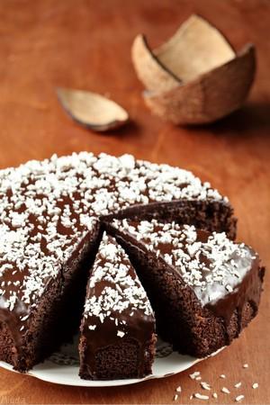 Фото Сумасшедший пирог «Crazy cake» без яиц, молока и сливочного масла