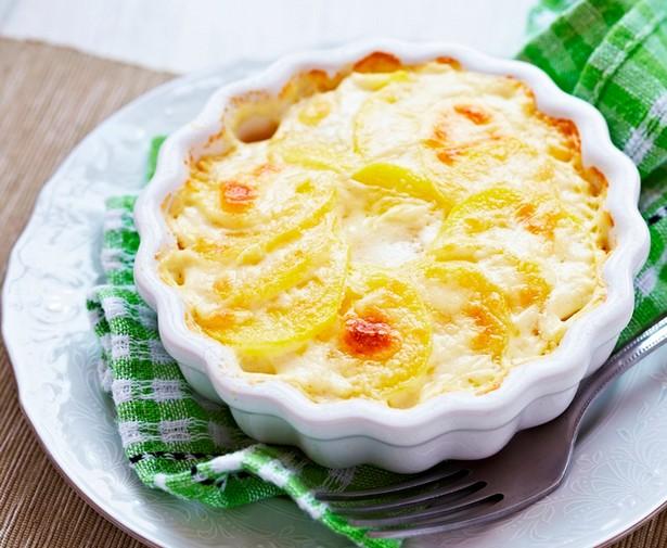 Картофельный гратэн с тыквой и копченой грудинкой
