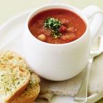 Томатный суп с нутом