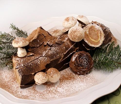 Французский торт «Рождественское полено» Buche de Noel