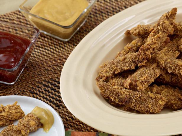 Хрустящие куриные палочки, запеченные в духовке