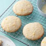 Лимонное печенье с рикоттой и лимонной глазурью