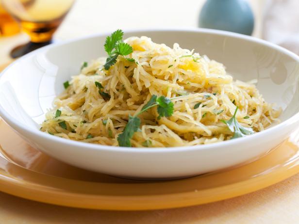 Фото Пряная тыква-спагетти в микроволновой печи
