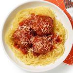 Тыква-спагетти с мясными фрикадельками