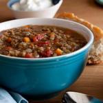 Вегетарианский суп из чечевицы