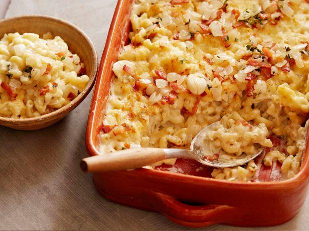 Фото Макароны с беконом и сыром в духовке