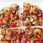 Пицца-гриль с креветками