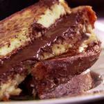 Сэндвич-гренки с шоколадно-ореховой пастой